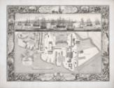 Pierre-Charles Canot after Thomas Milton and John Cleveley the Elder, *Geometrical Plan of his Majesty's Dockyard, near Plymouth*, 1756, line engraving on paper