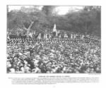 Unveiling by Sir Henry Blake, Governor of Jamaica, and Lady Blake, on June 22, 1897. Photo by Duperley and Son, published in *The Queen's Empire: A Pictorial and Descriptive Record*, with an introduction by H.O. Arnold-Forster (London: Cassell, 1899), 47.