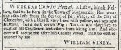 [Advertisement for runaway servant], *Gloucester Journal (August 24, 1731)