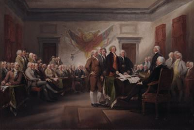 John Trumbull, *The Declaration of Independence, July 4, 1776*