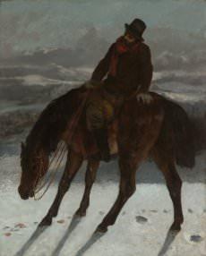 Gustave Courbet, Hunter on Horseback
