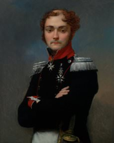 Jean-Baptiste Regnault, Portrait of Charles-Louis Regnault, an Officer from the Napoleonic Wars