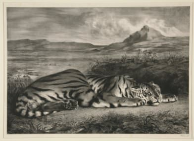 Eugène Delacroix, Tigre Royal (Royal Tiger)
