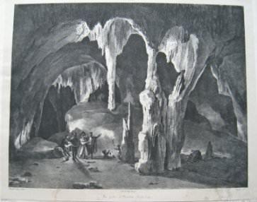 Nicolas Toussaint Charlet, Grottes d'Osselles: La chaire à prêcher (Osselles Caves: The Pulpit)