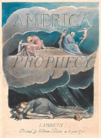 William Blake, Plate 2, Title Page, from America. A Prophecy