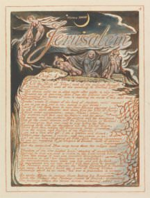 "William Blake, Plate 4, ""Chap. 1 . . . ,"" , from Jerusalem"