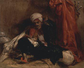 Richard Parkes Bonington, Seated Turk