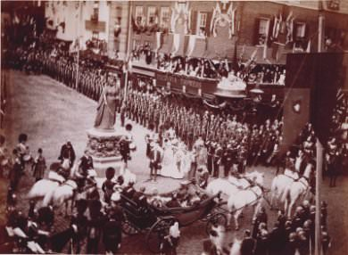 Unveiling of the statue of Queen Victoria on Castle Hill, Windsor, June 22, 1887