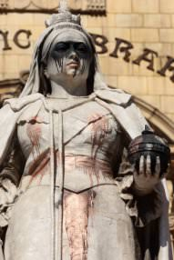 """Queen Victoria statue attacked during Jacob Zuma's UK trip,"" March 4, 2010"