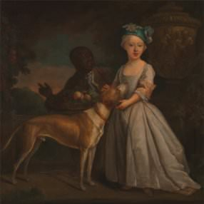 B. Dandridge, *A Young Girl with a Dog and a Page*