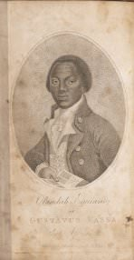 "[Unknown artist], ""Olaudah Equiano, or Gustavus Vassa, the African,"" from *The Interesting Narrative of the Life of Olaudah Equiano* (Dublin: Printed for the author, 1791), frontispiece."