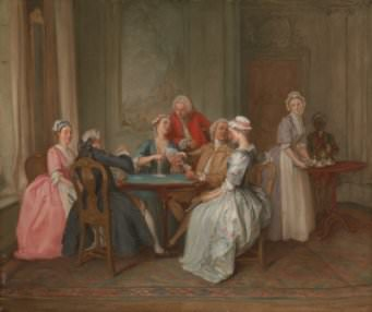 H-F. Gravelot, A Game of Quadrille