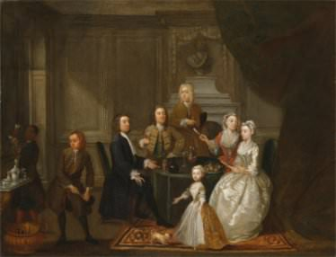 G. Hamilton, Group portrait, probably of the Raikes family