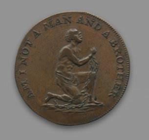 """""""Am I Not A Man And A Brother"""" Anti-Slavery Conder Token"""