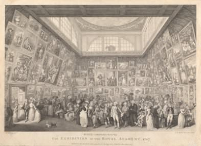P. Martini after J. H. Ramberg, *Exhibition of Royal Academy*