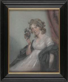 John Raphael Smith, *A Lady Holding a Negro Mask*