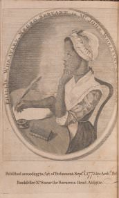 [Unknown artist], Phyllis Wheatley, Negro servant to Mr. John Wheatley of Boston (frontispiece to Poems on Various Subjects, Religious and Moral)