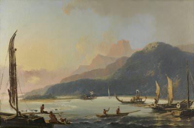 William Hodges, A View of Matavai Bay in the Island of Otaheite [Tahiti]