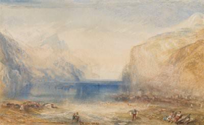 Joseph Mallord William Turner, Fluelen: Morning (Looking towards the Lake)