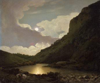 Joseph Wright of Derby, Matlock Tor by Moonlight