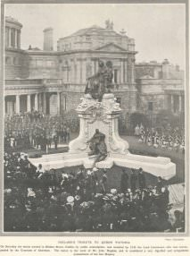 """Ireland's Tribute to Queen Victoria"": unveiling by King Edward VII on February 17, 1908."