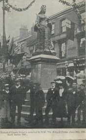 """Statue of Queen Victoria unveiled by H. M. The King at Derby, June 28th, 1906"" (postcard)."